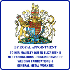 By Royal appointment to her majesty Queen Elizabeth II. NLS Fabrications - Buckinghamshire. Welding fabrications and general metal workers.